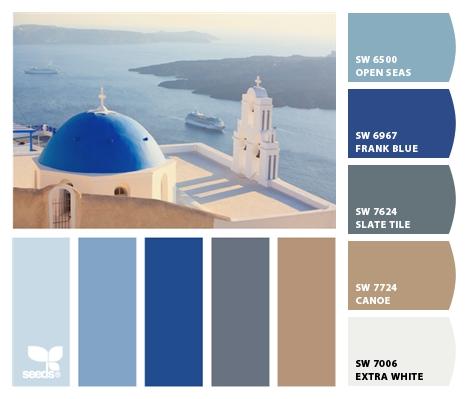 Santorini Blue Paint New Images